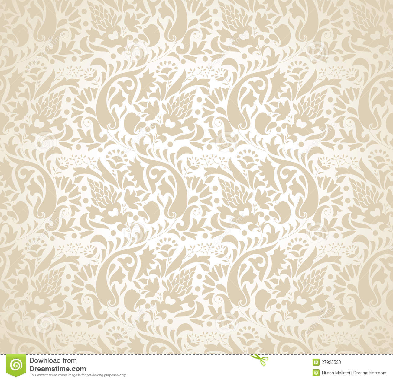 Paisley Background For Wedding Card Stock Vector Illustration Of