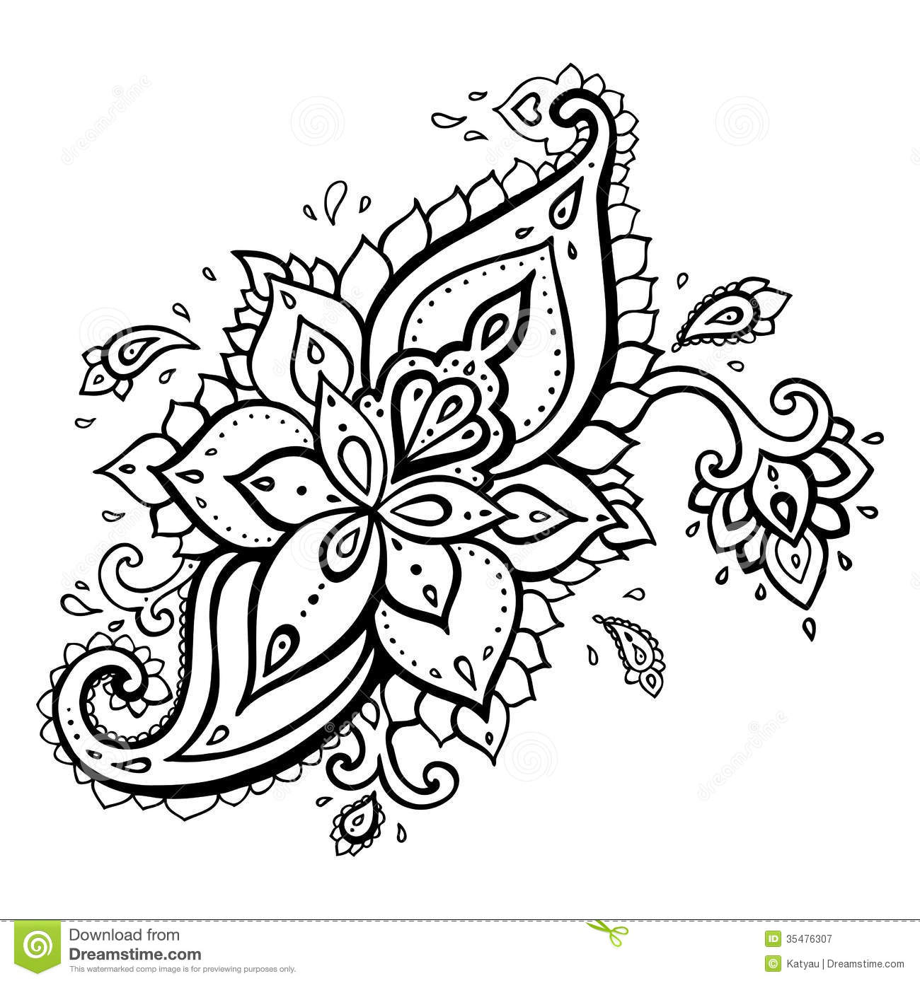 Royalty Free Stock Photography Paisley Ethnic Ornament Vector Illustration Isolated Image35476307 on free printable mandala patterns