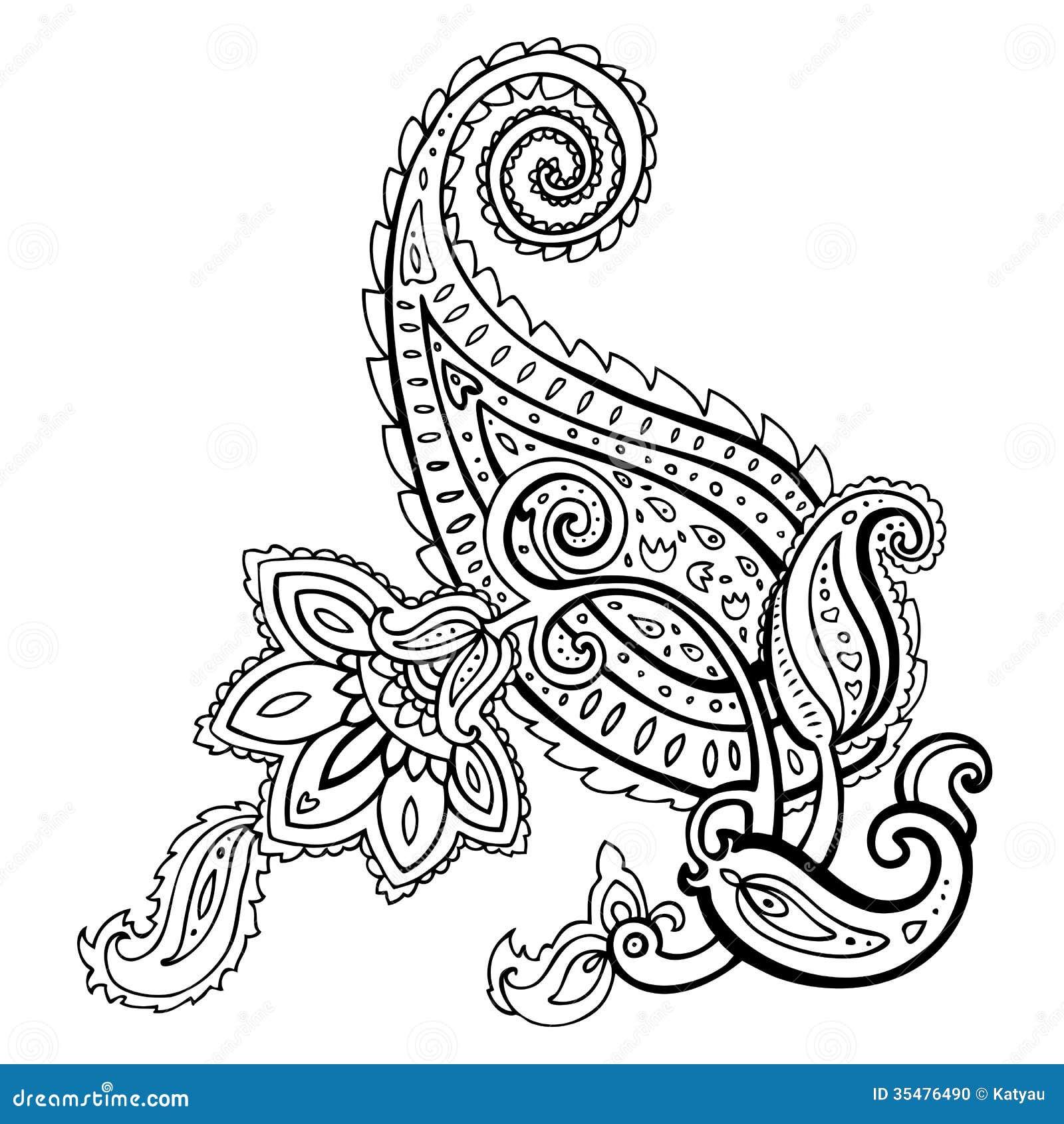 Paisley Ethnic Ornament Stock Photo Image 35476490