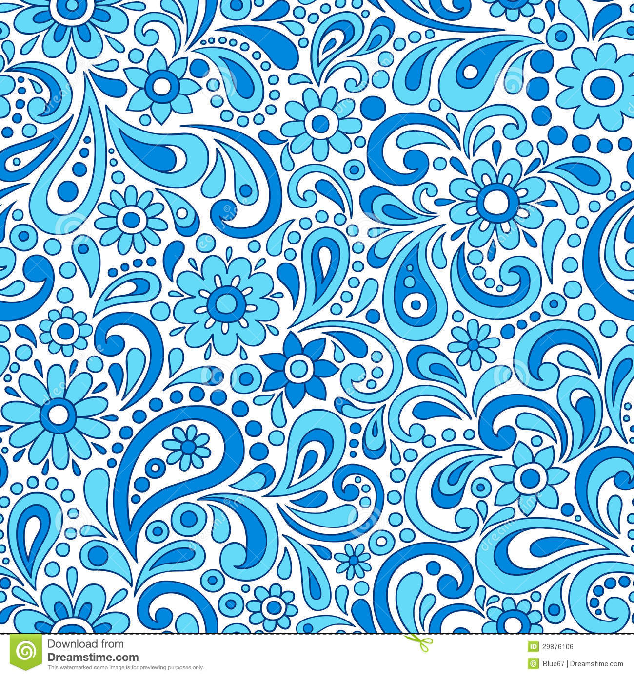 Paisley Henna Mehndi Elegant Flower and Swirl Doodles Seamless Pattern ...: www.dreamstime.com/royalty-free-stock-image-paisley-henna-mehndi...
