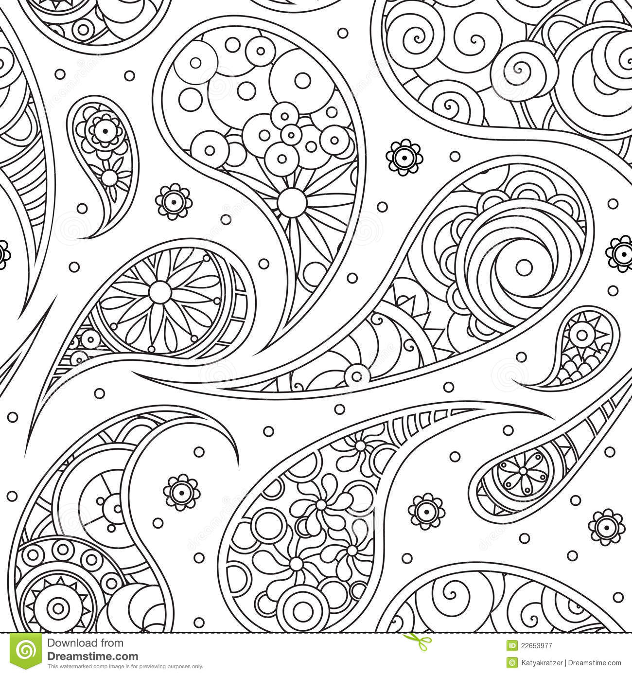 Paisley pattern stock vector. Image of decoration, detail
