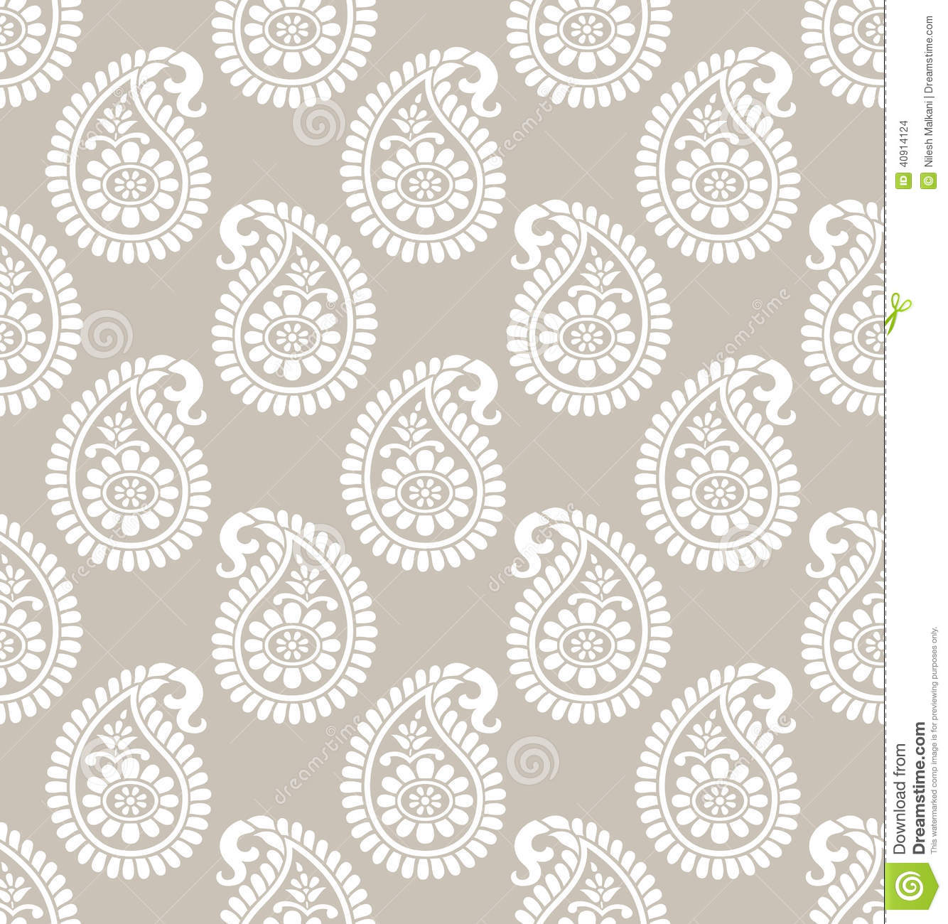 Paisley seamless designer wallpaper stock vector image for Unique wallpaper designs