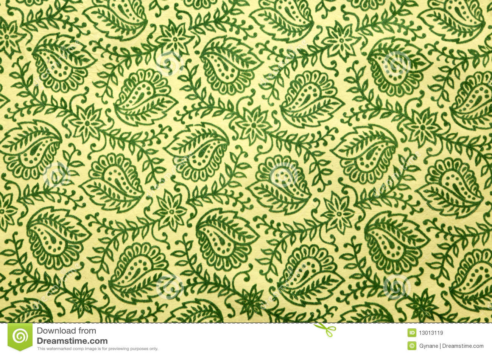 Paisley zielony wzór