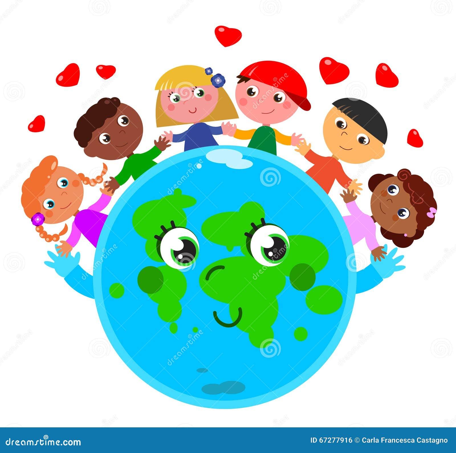Assez Paix autour du monde illustration de vecteur. Image du unité  WL06