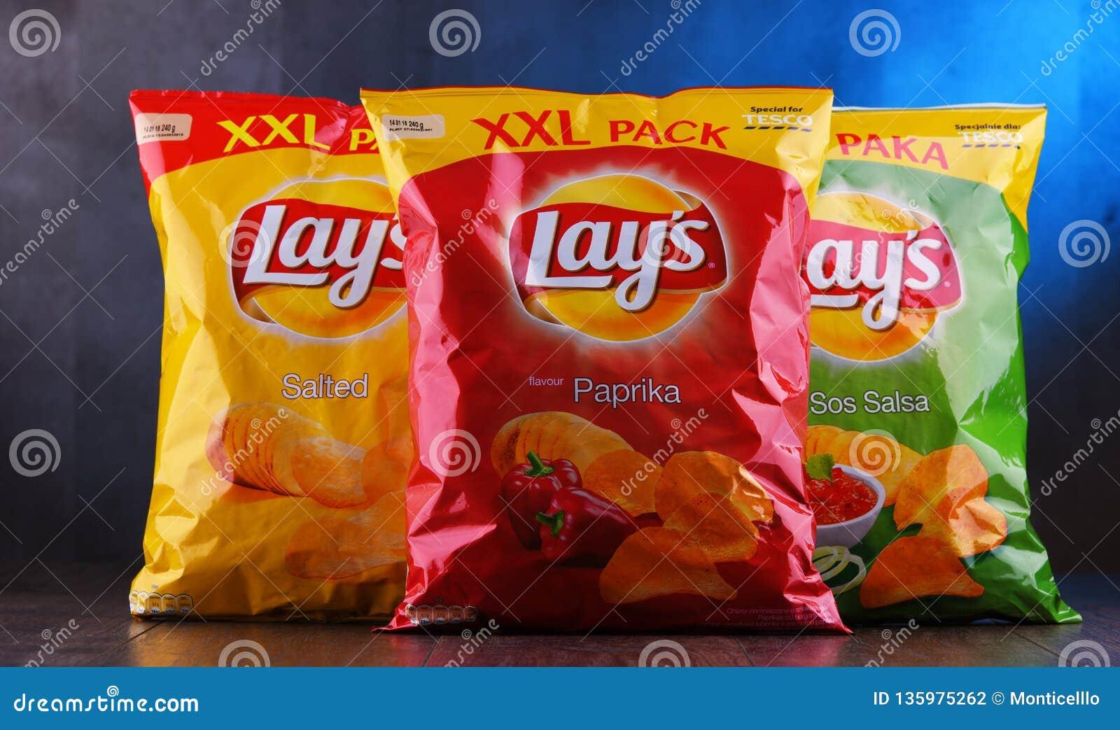 Paket av Lays potatischiper