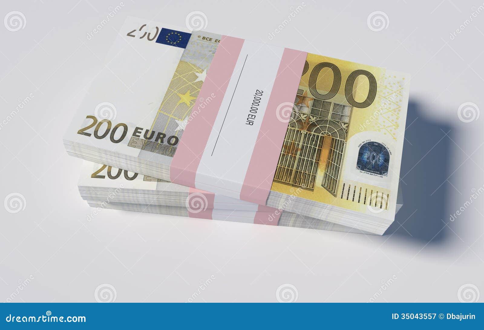 pakete von 200 euro scheinen lizenzfreie stockfotografie bild 35043557. Black Bedroom Furniture Sets. Home Design Ideas