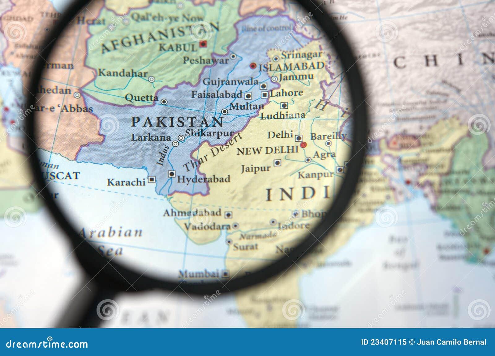 Pakistan auf einer Karte