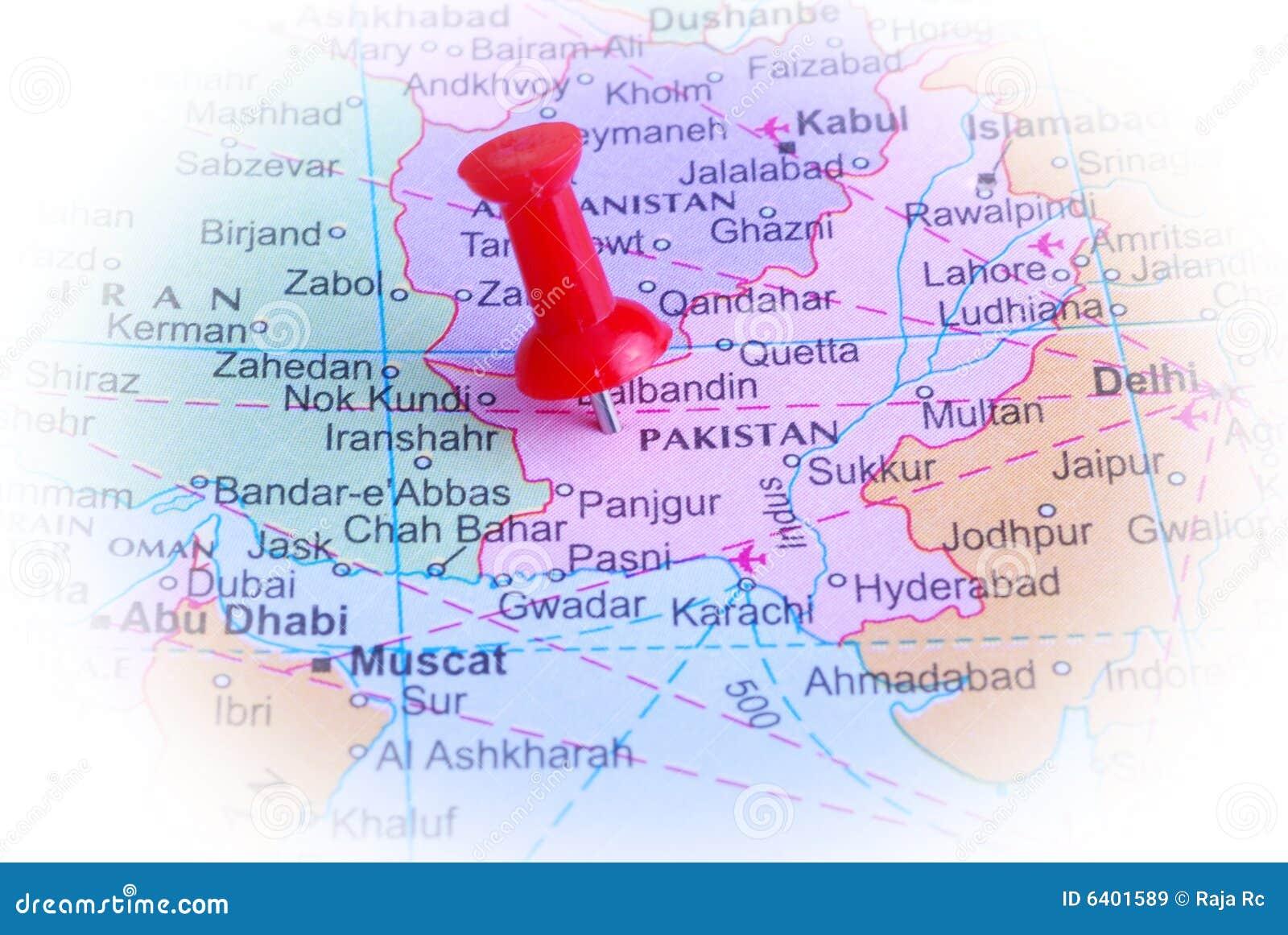 Pakistan in der Karte