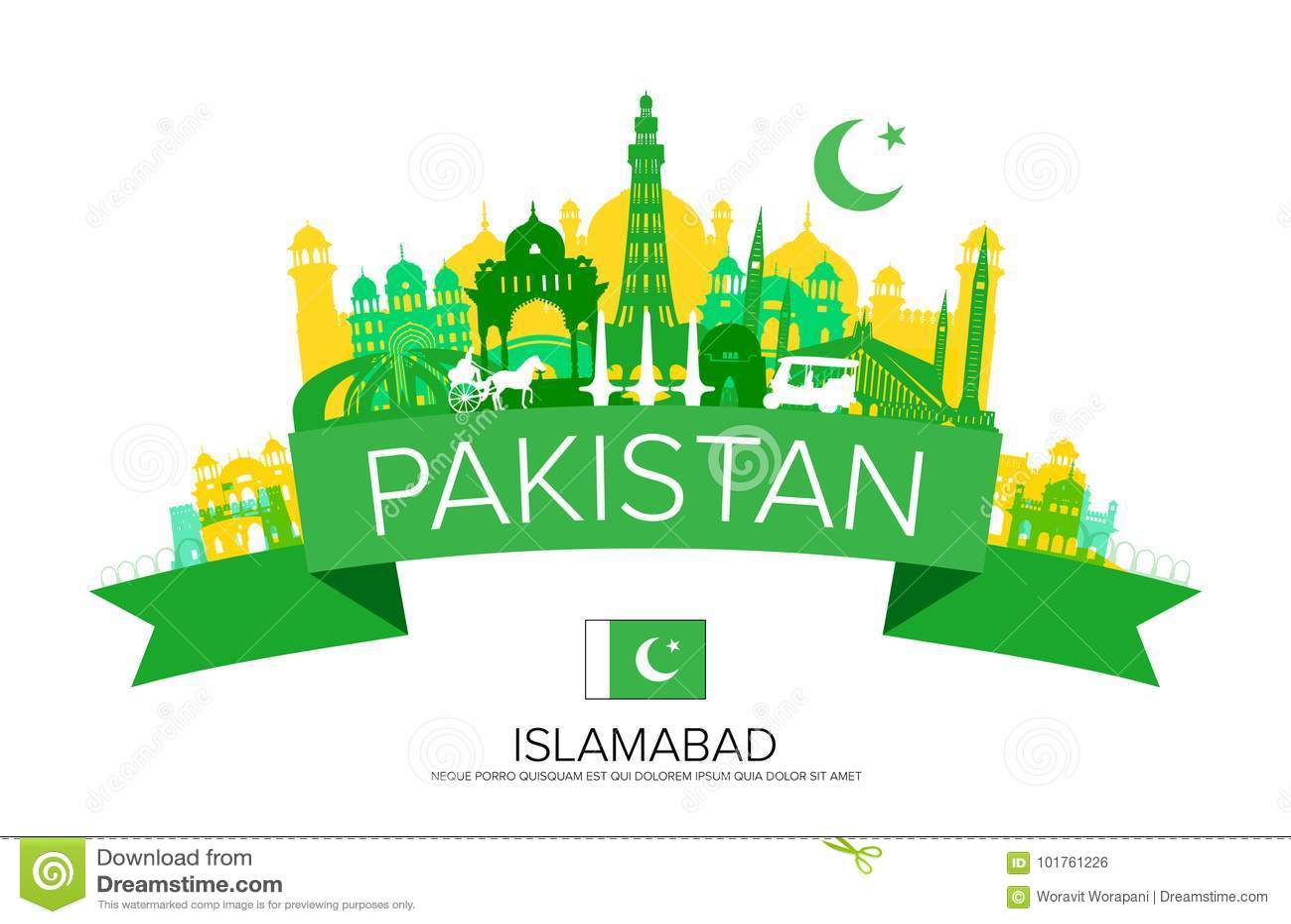 Pakistan loppgränsmärken