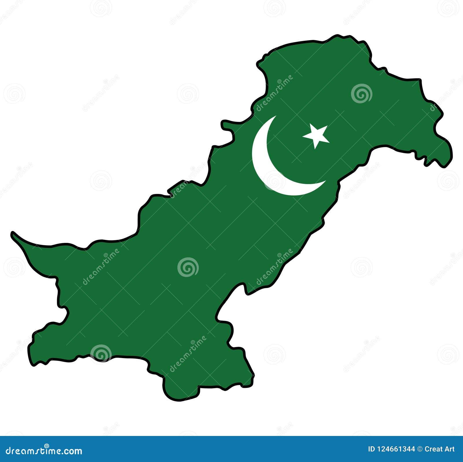 Pakistan.Map of Pakistan vector illustration