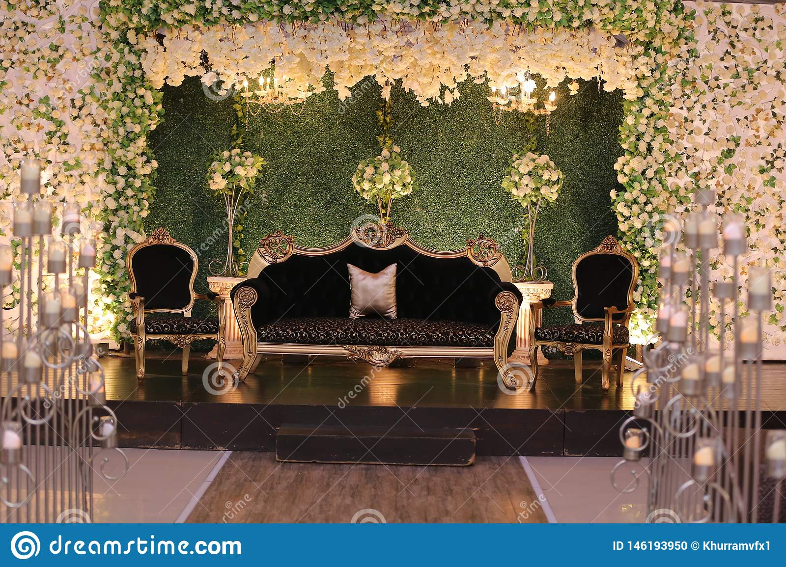 Wedding Stage Decoration In Pakistan Stock Photo   Image of trend ...