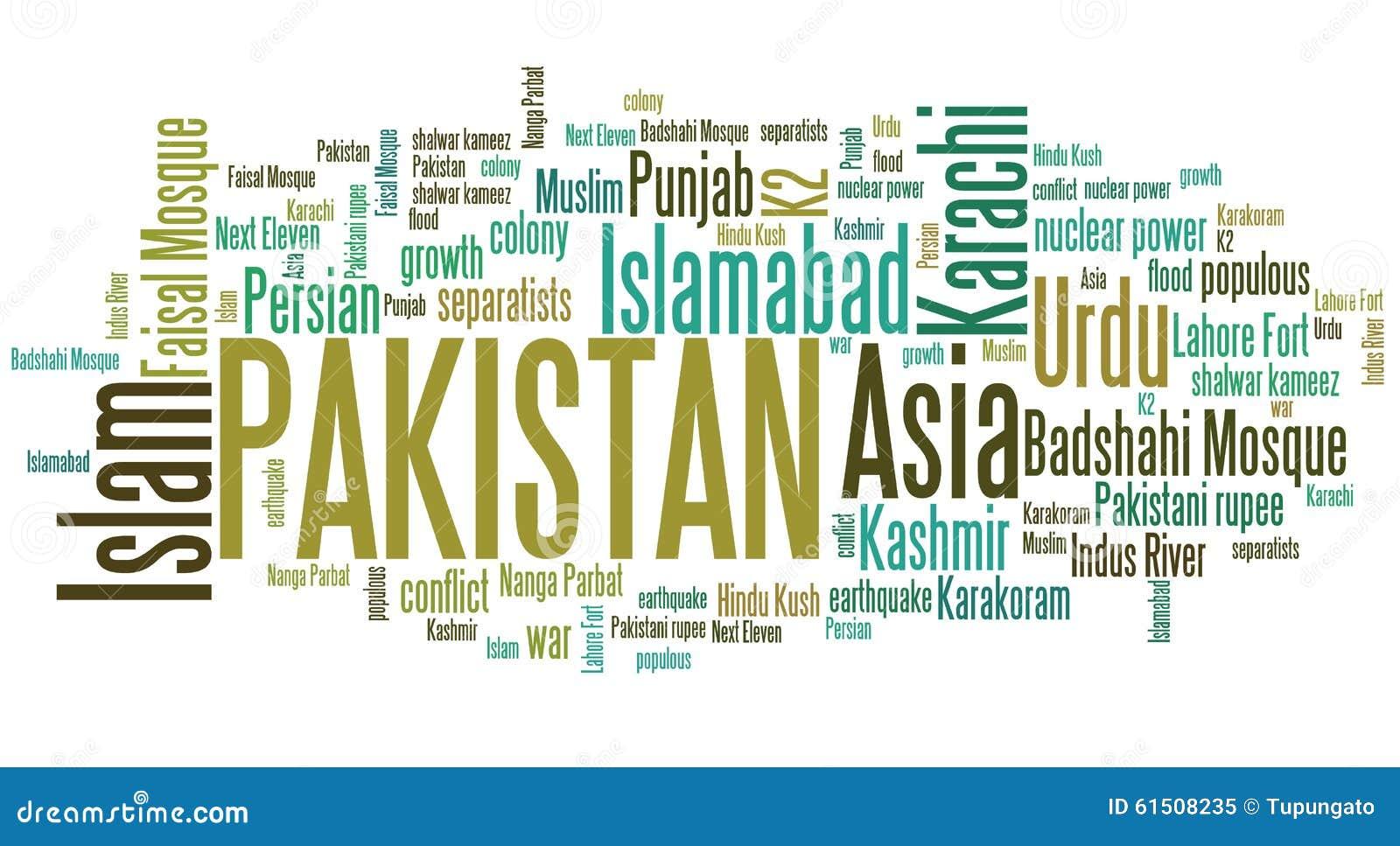 Image of pakistan word fmt