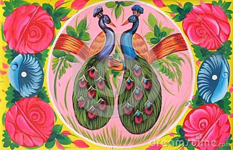 Pakistani Truck Art Pigeon and Love
