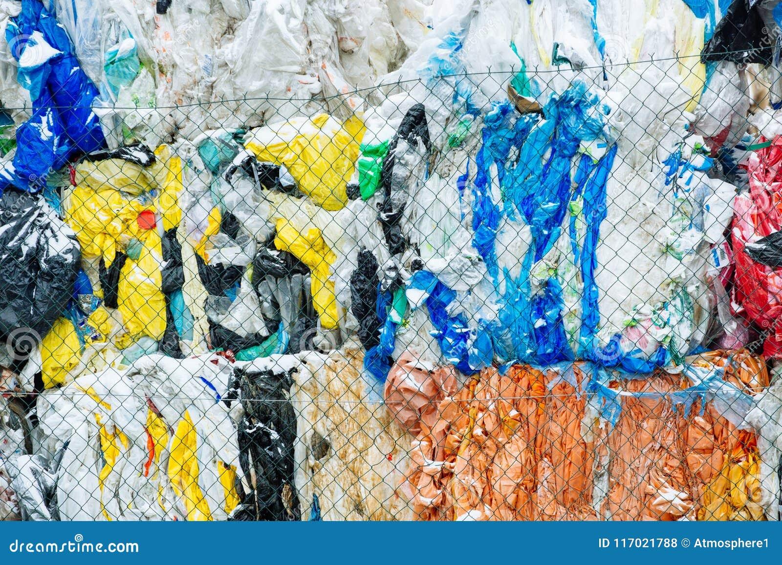 Pakken en Voorraden van Verpakt Schrootplastiek Specifiek voor Eco Recy