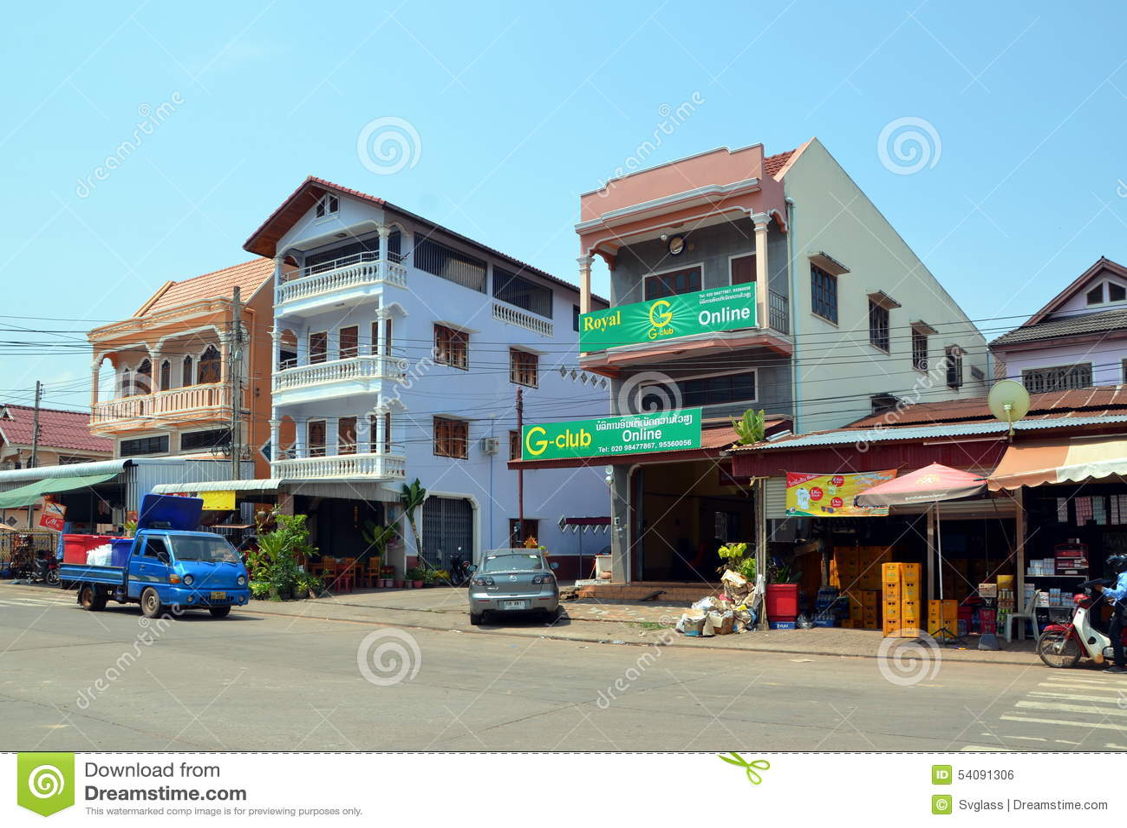 Paksestad in Laos