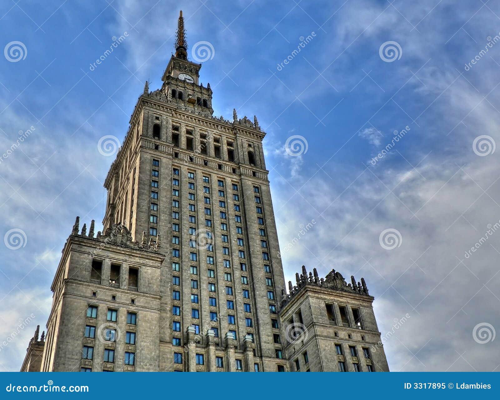 Palácio da cultura em Varsóvia