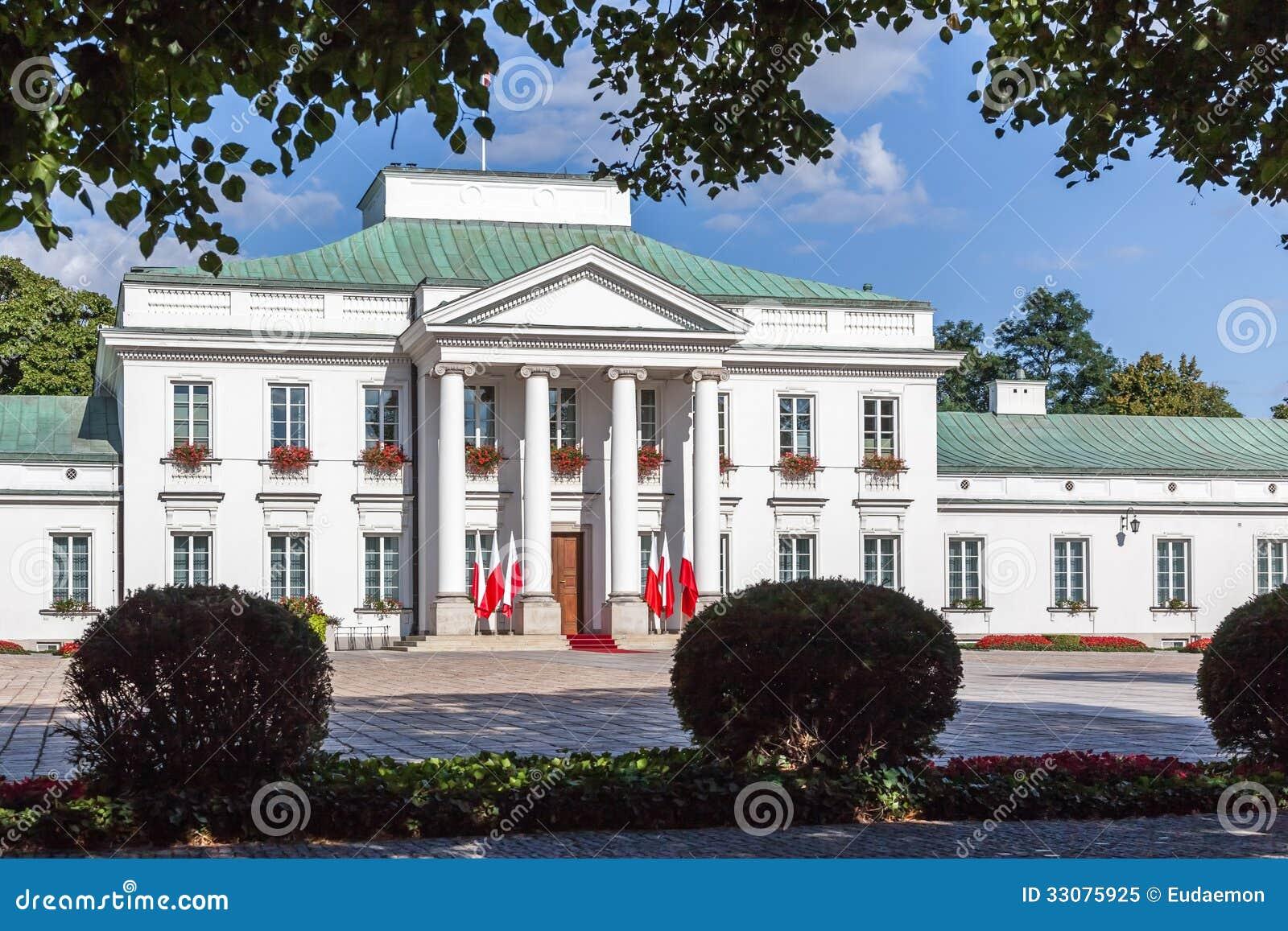 Palácio de Belweder em Varsóvia, Polônia