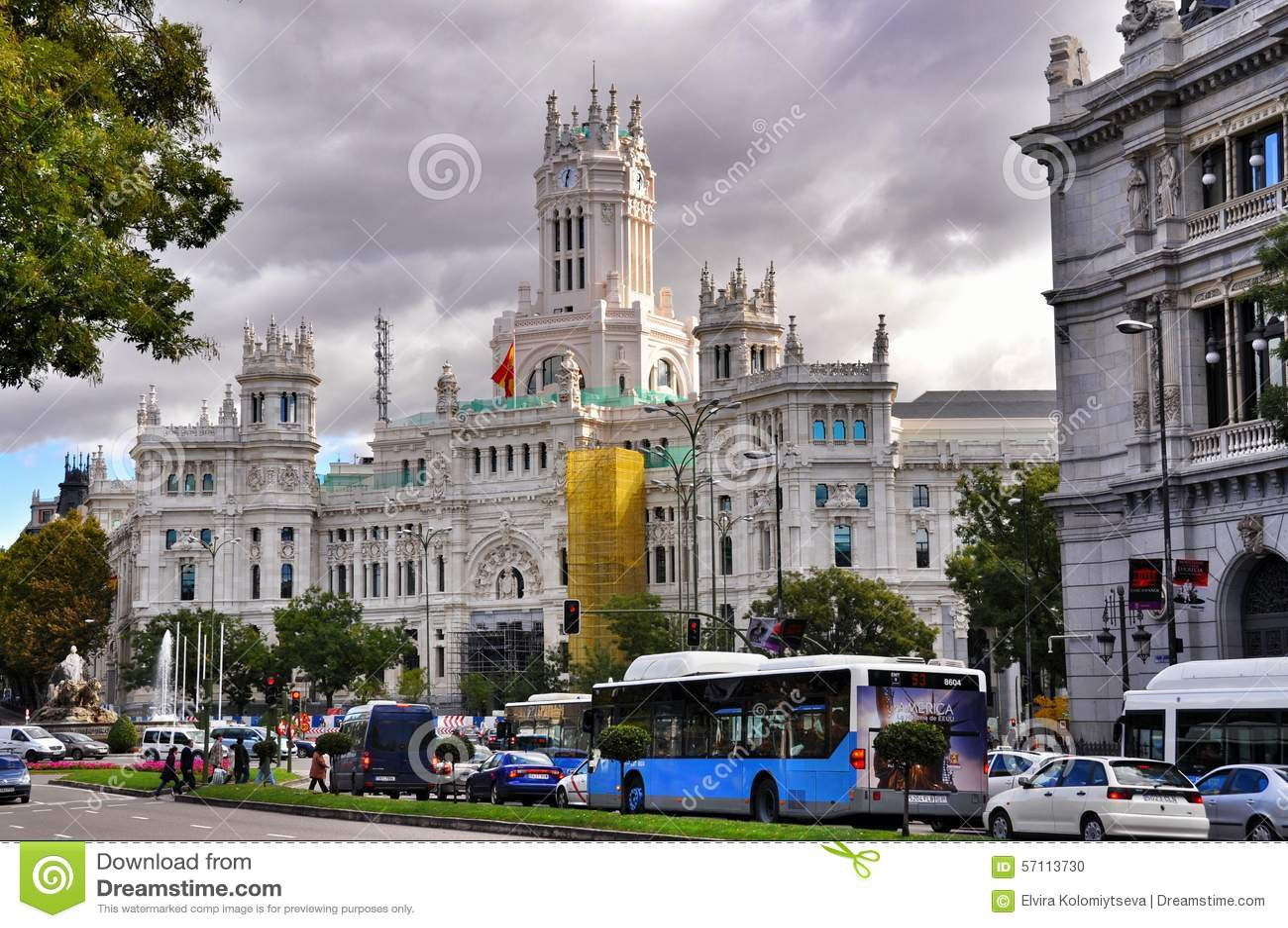 Palácio De Cibeles No Madri Espanha Imagem Editorial