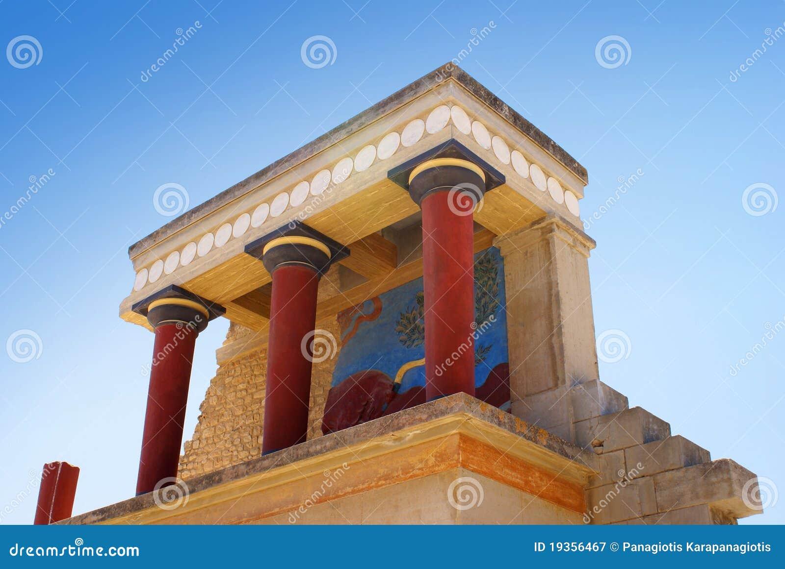 Palácio de Knossos em Crete, Greece