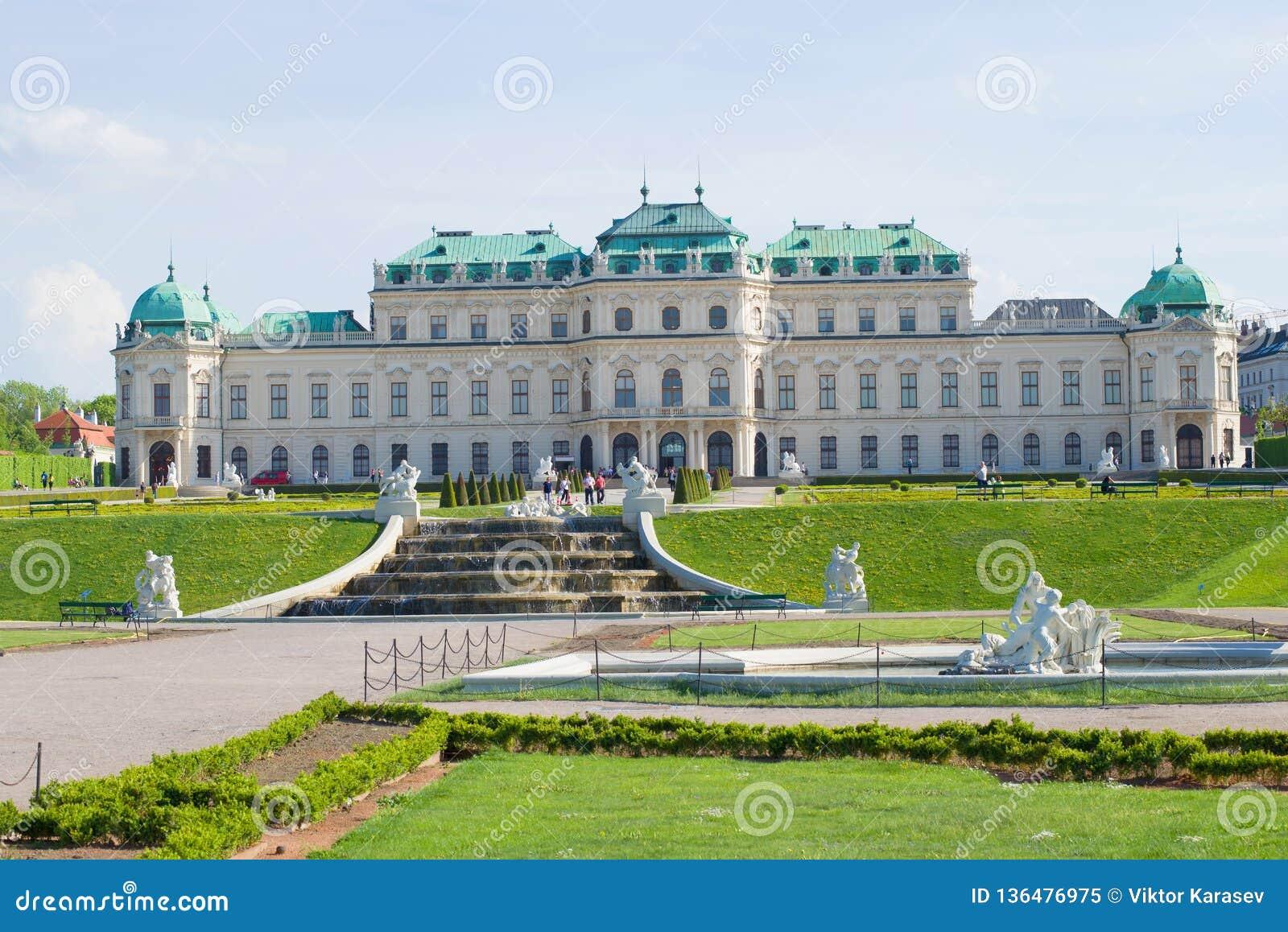 Palácio do Belvedere - a residência do príncipe do couve-de-milão Viena, Áustria