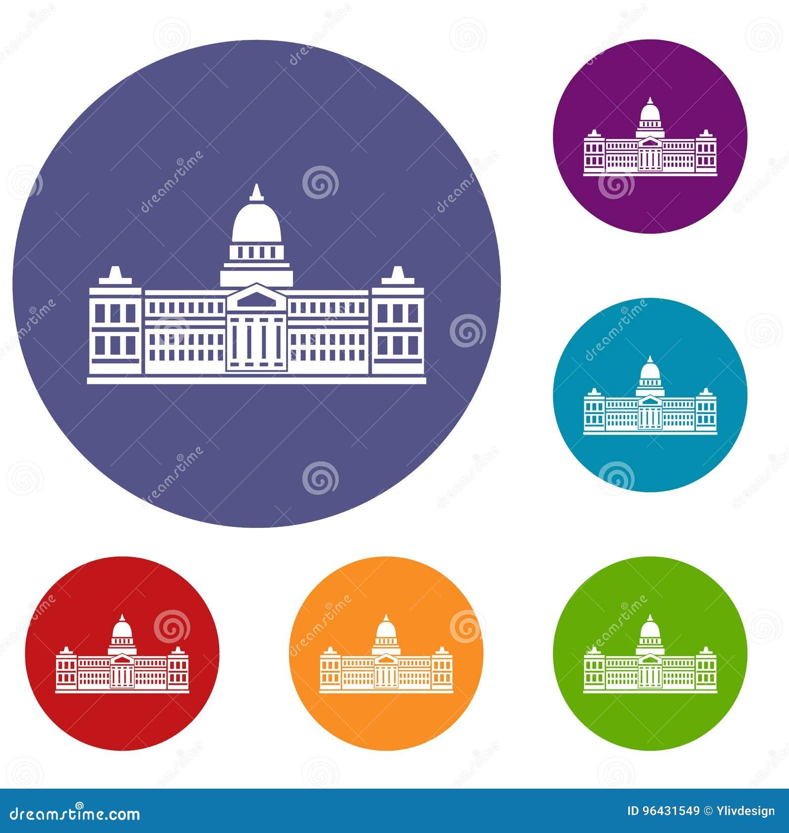 Palácio do congresso, ícones de Argentina ajustados