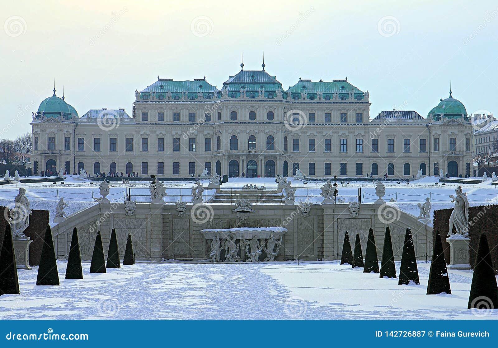 Palácio e jardim do Belvedere em Viena Belvedere superior