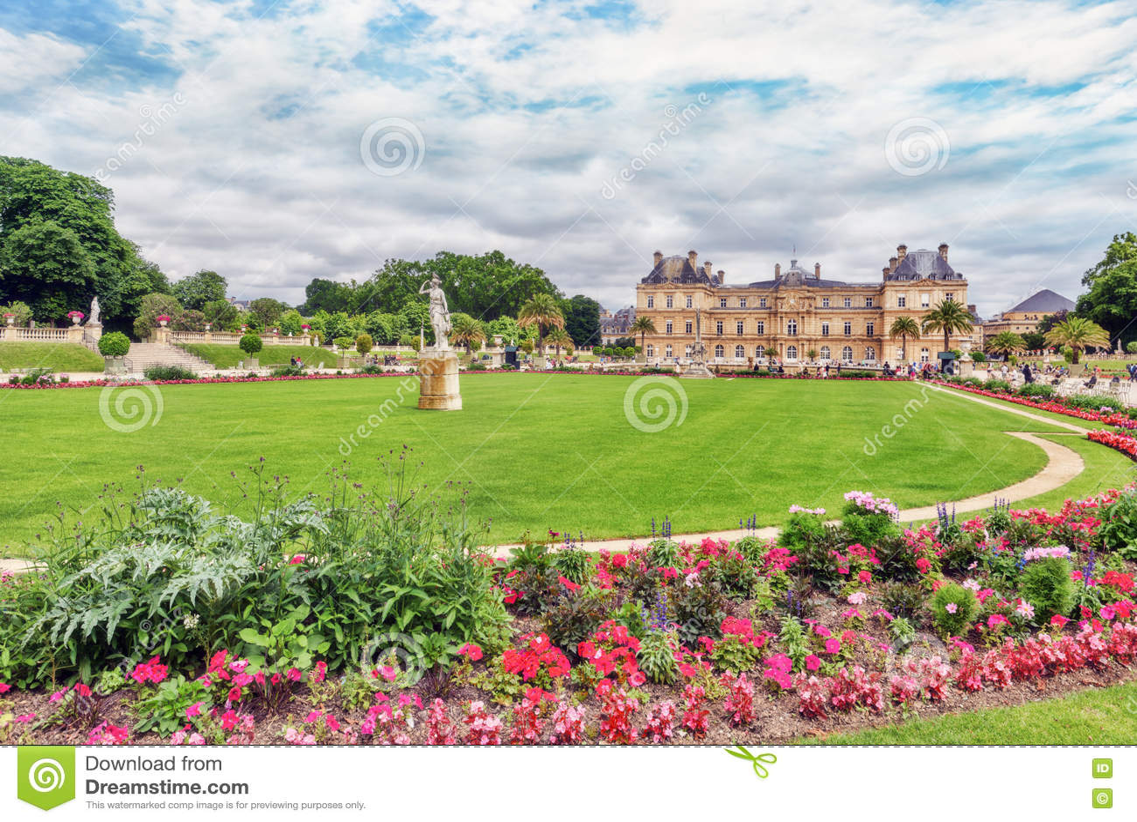 Pal cio e parque de luxemburgo em paris o jardin du for Jardin o jardin