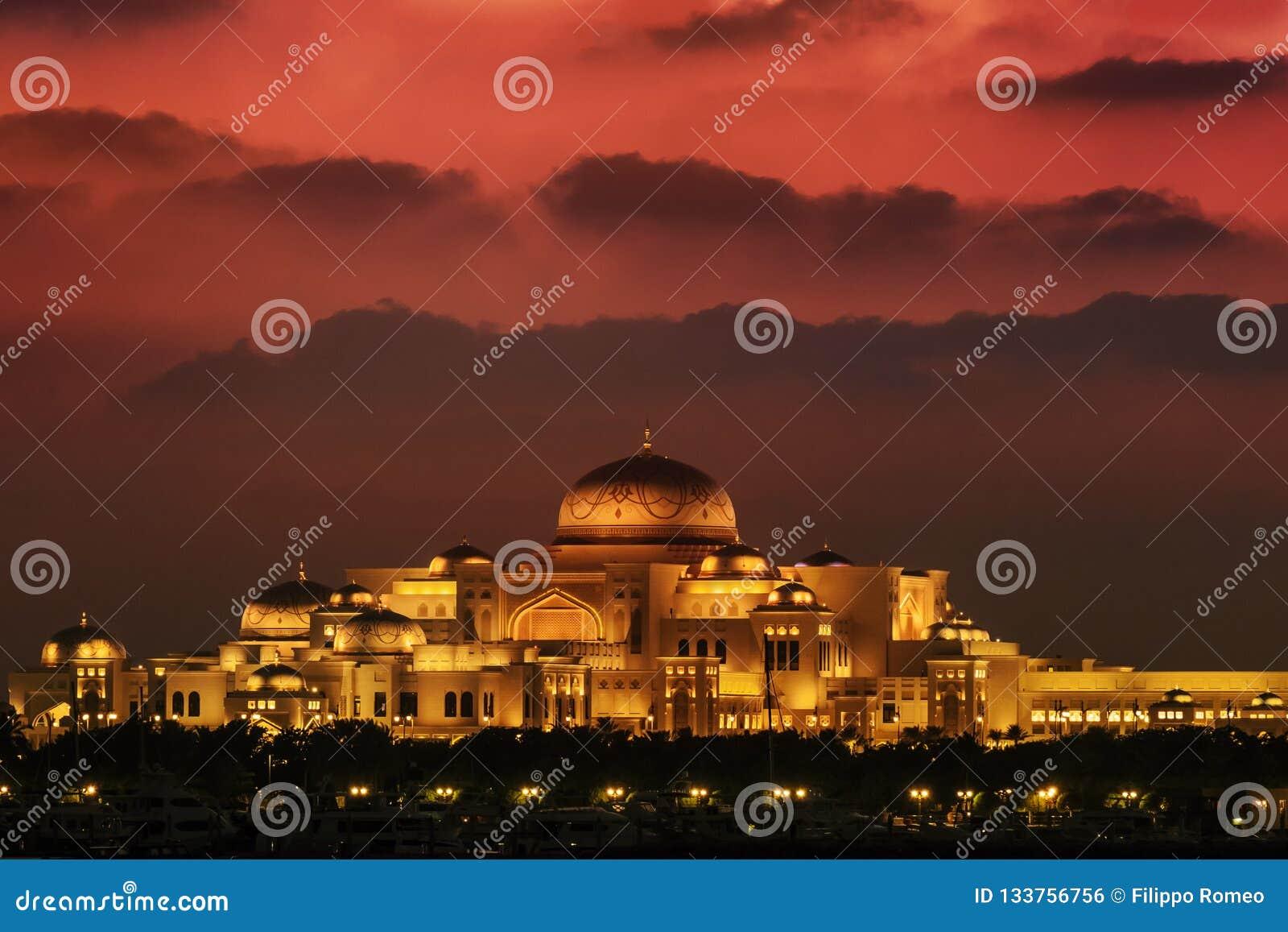Palácio presidencial Abu Dhabi dos UAE