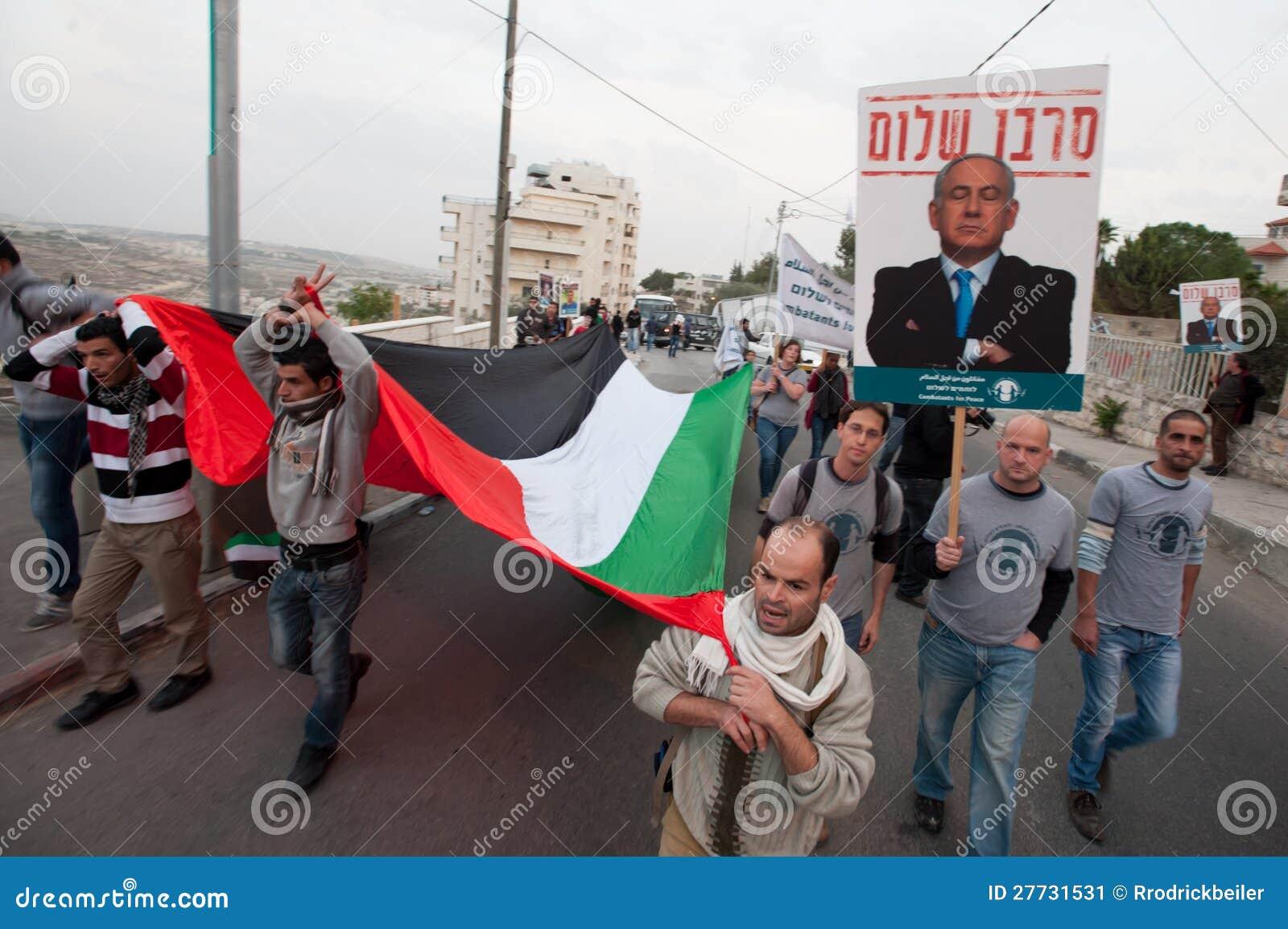 Palästinenser- und Israeliprotest Gaza-Angriffe