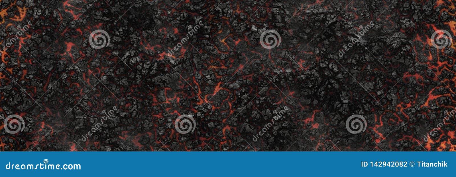 Paląca węgiel drzewny rozjarzona powierzchnia węgle Abstrakcjonistyczny natura wzór