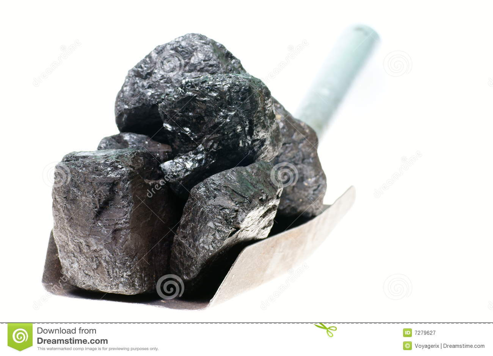 Pala y carbón