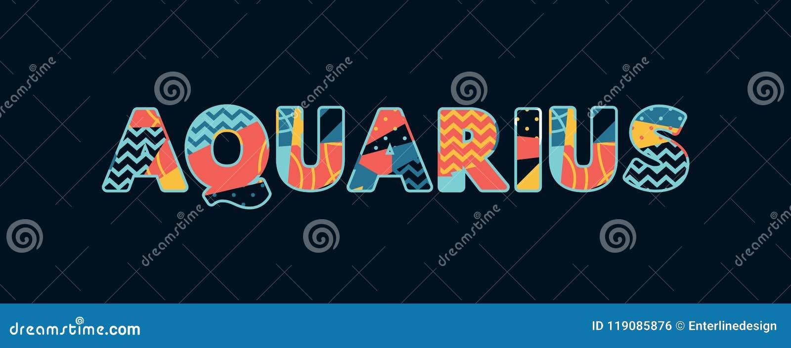 Palabra Art Illustration del concepto del acuario