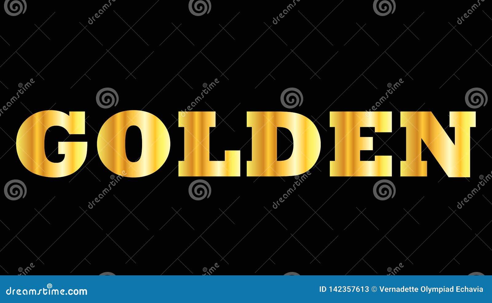 Palabra brillante de la mayúscula del oro de oro