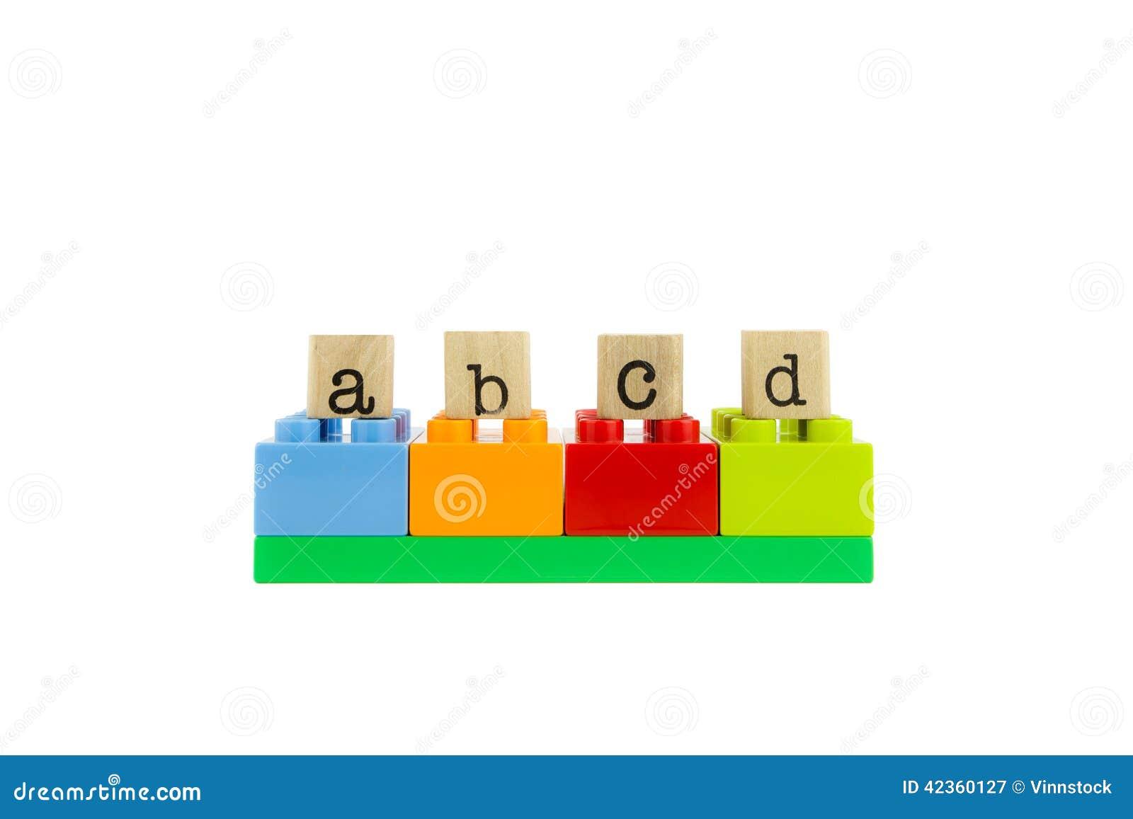 Abcd Juguete Bloques Del De Sellos Y Palabra En Madera Coloridos 3ARjL54