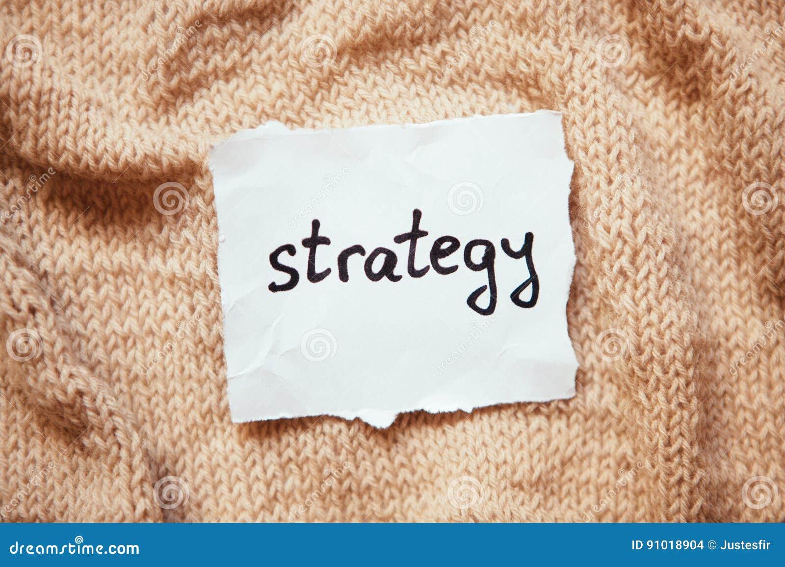 Palabra de la estrategia en el Libro Blanco