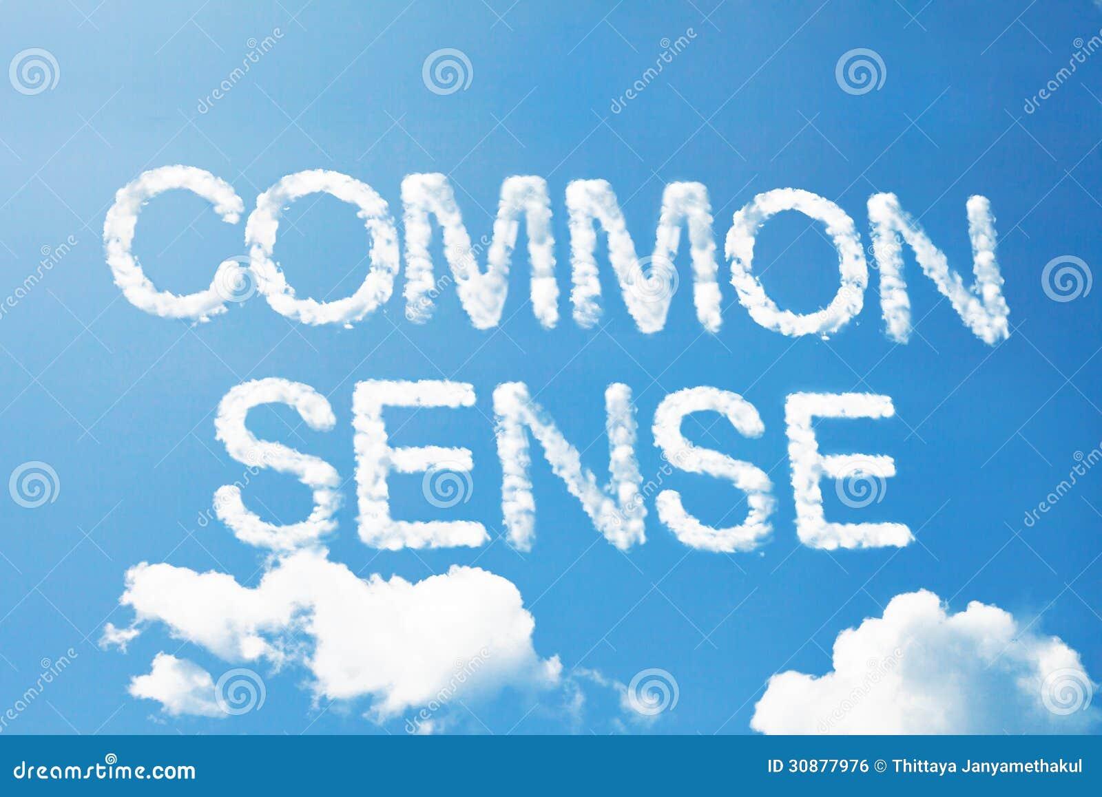 Palabra de la nube del sentido común