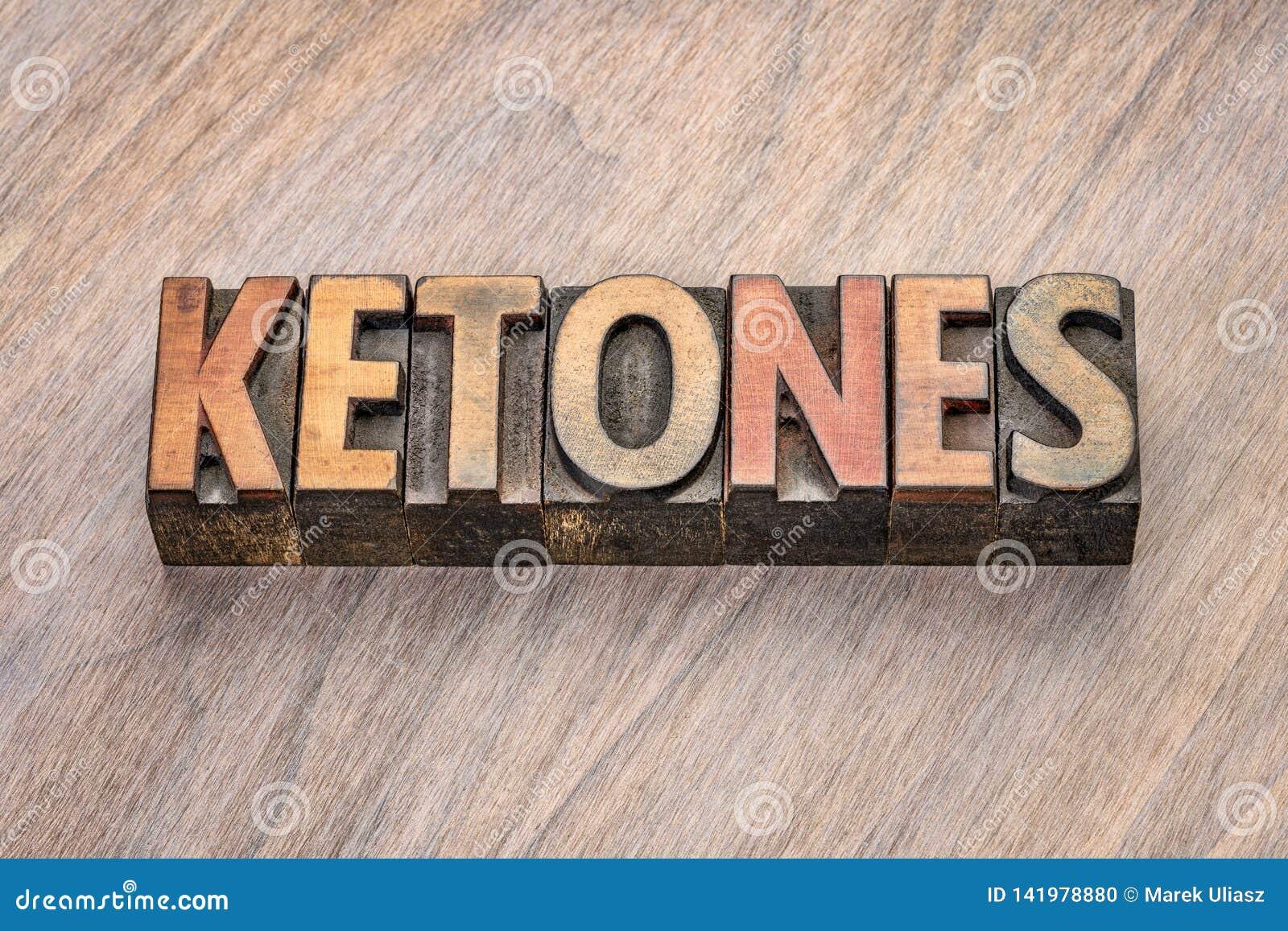 Palabra de las cetonas en el tipo de madera