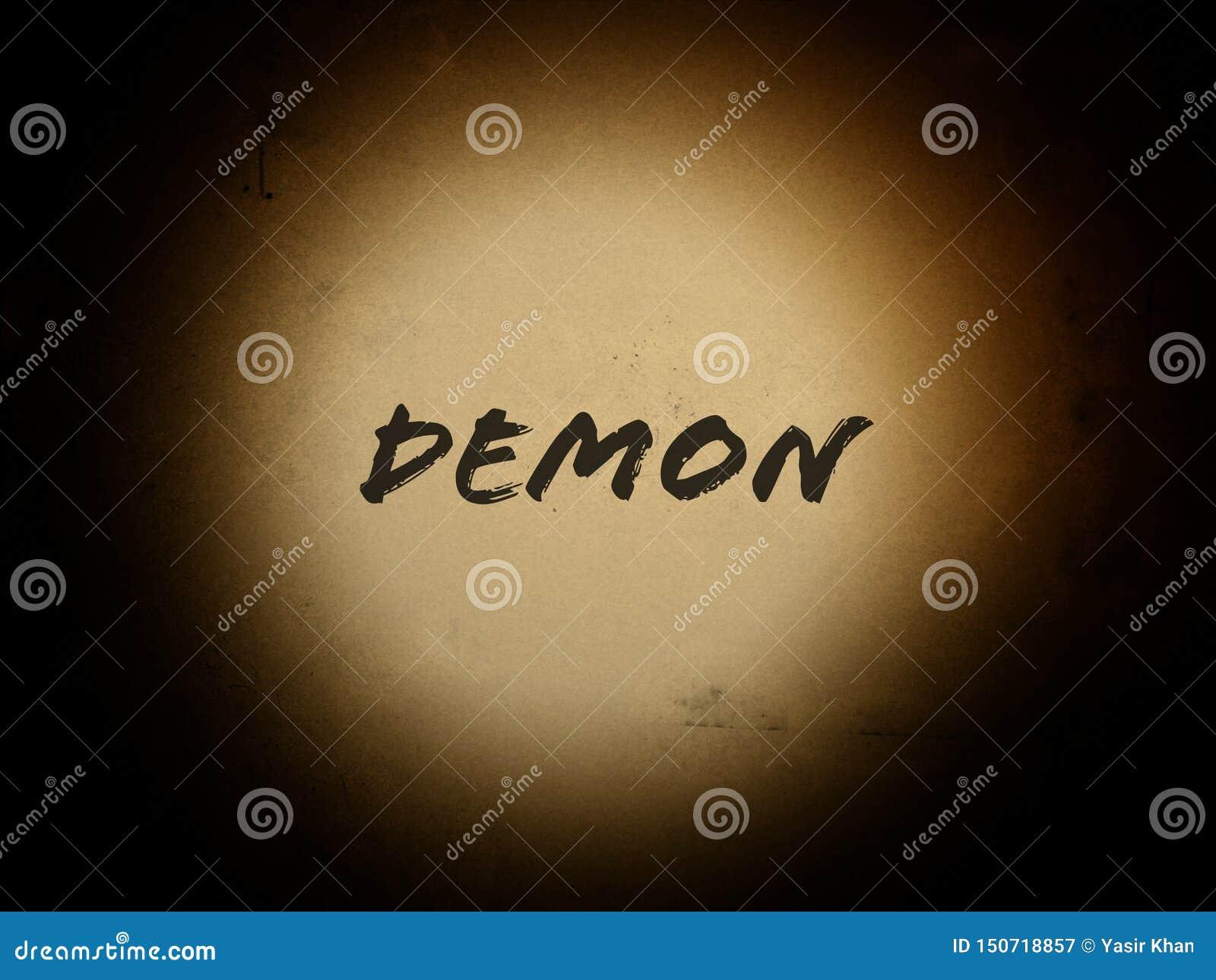 Palabra del demonio en el fondo del horror