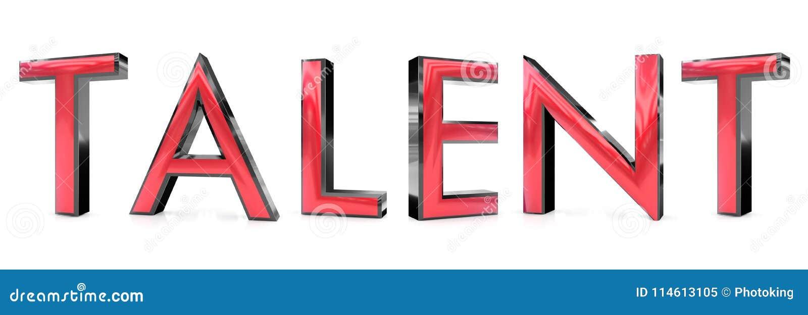 Palabra Del Talento 3d Stock De Ilustracion Ilustracion De