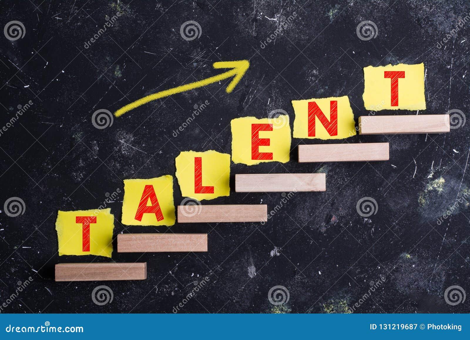 Palabra del talento en pasos