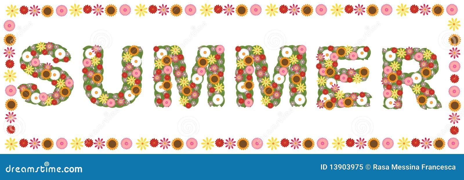 Palabra floral del verano