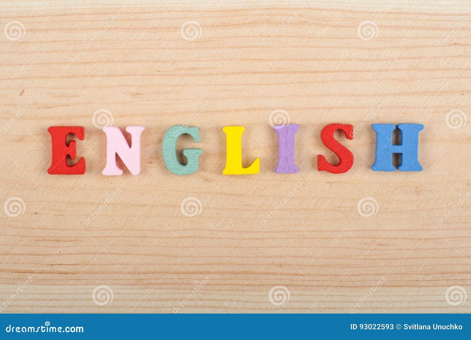 Download Palabra Inglesa En El Fondo De Madera Compuesto Letras Del ABC