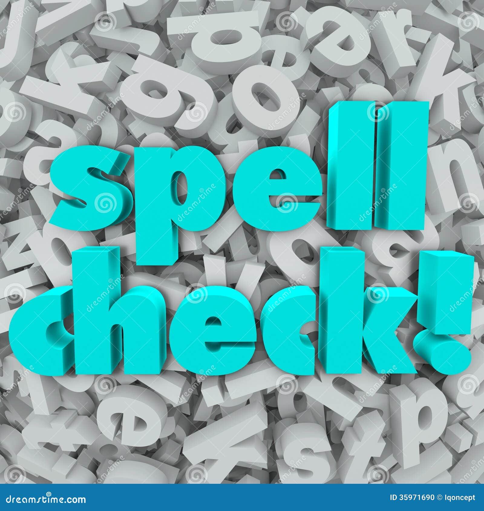 Palabras correctas del deletreo del fondo de la letra de la corrección ortográfica