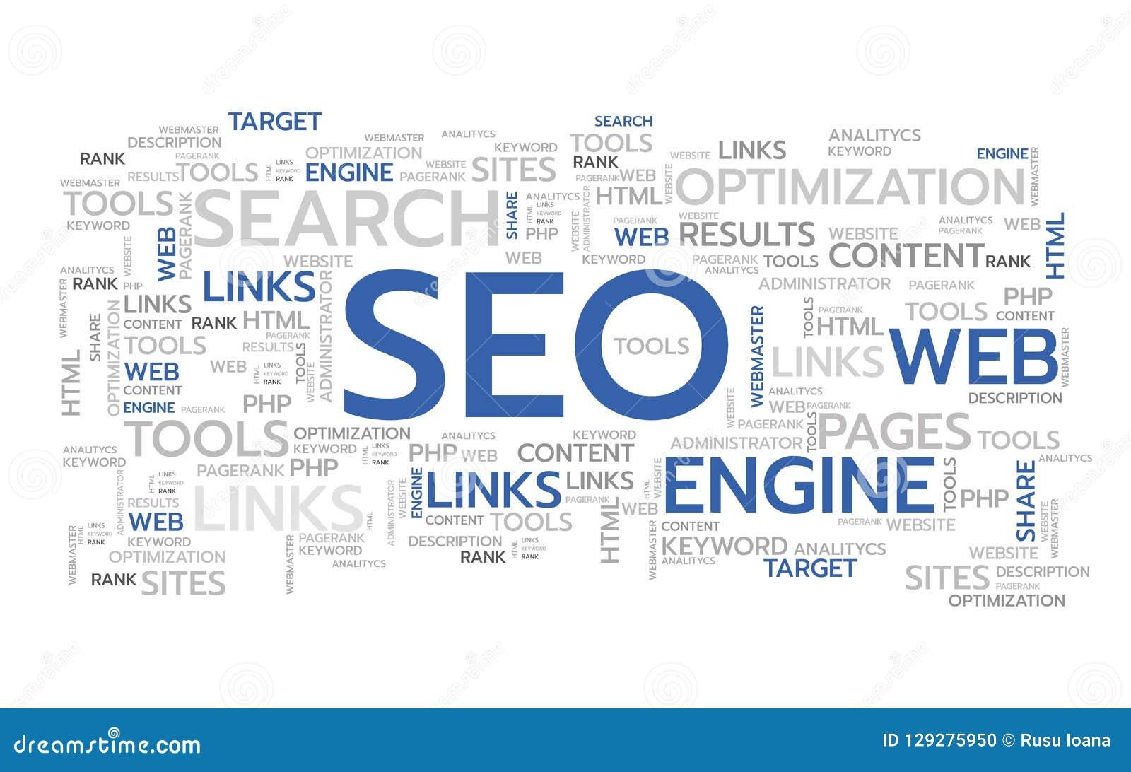 Palabras de SEO Vector Ilustración Bandera del Web