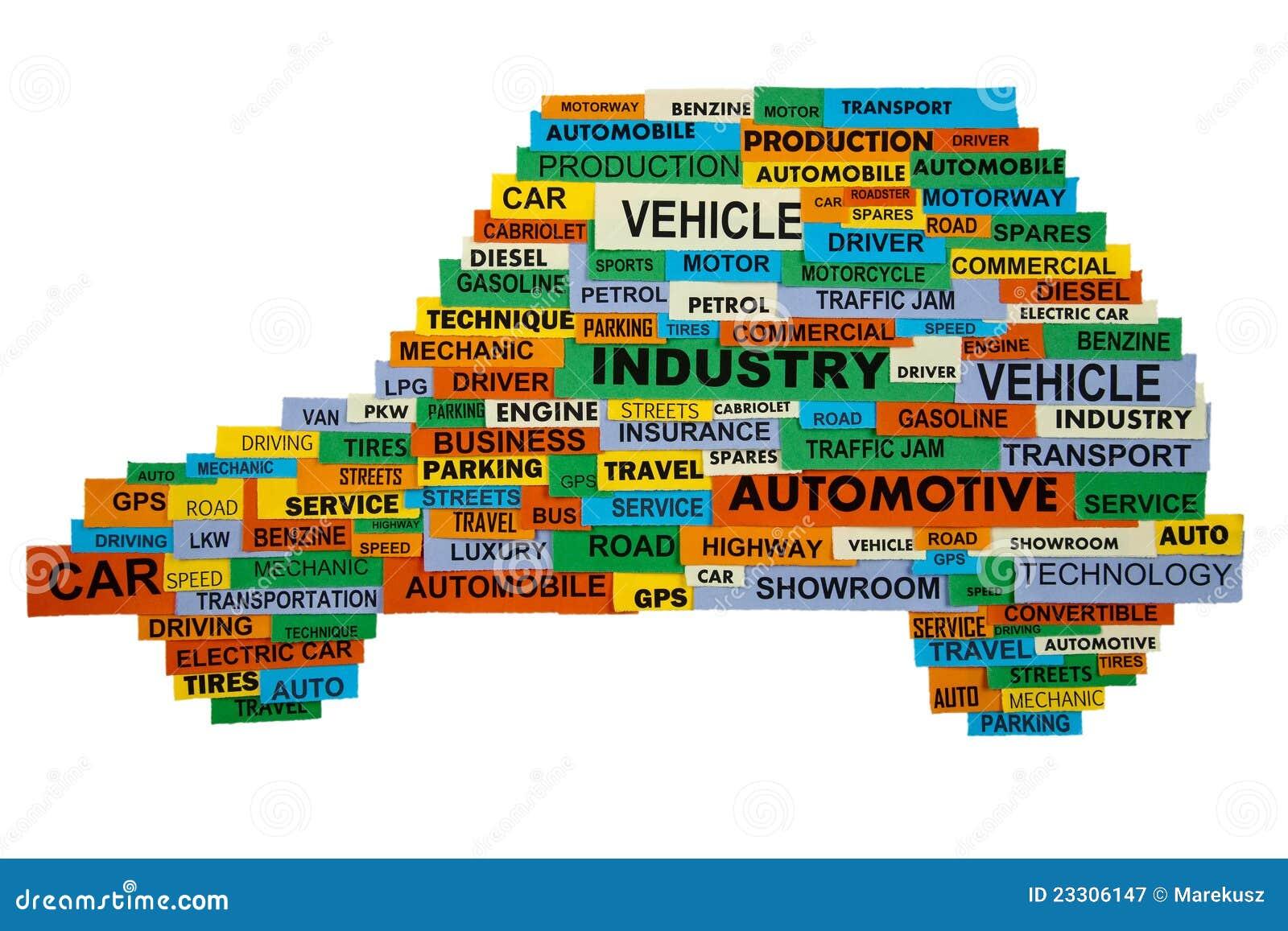 Palabras Que Describen La Industria Del Automóvil Imagen de ...