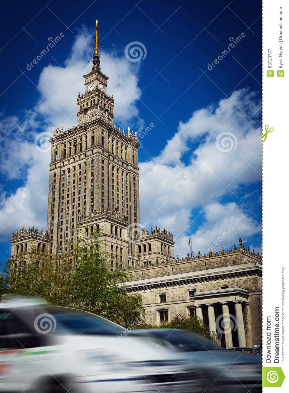 The Palace Of Culture And Science In Warsaw, Poland Editorial Photography