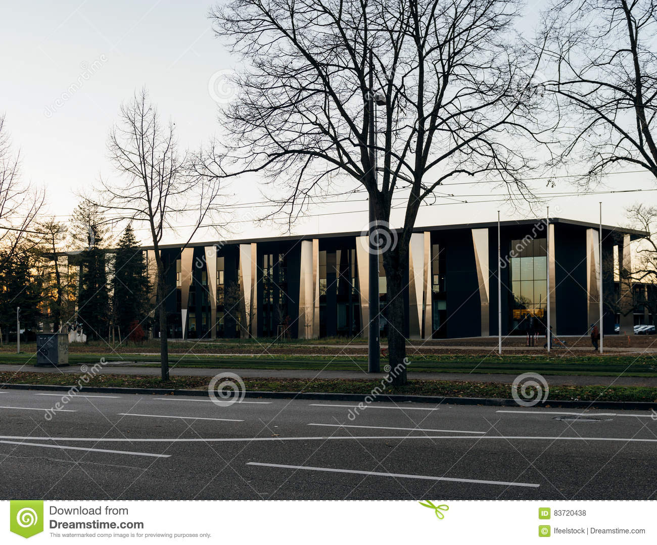 Palace De Congress In Strasbourg France Editorial Stock Photo