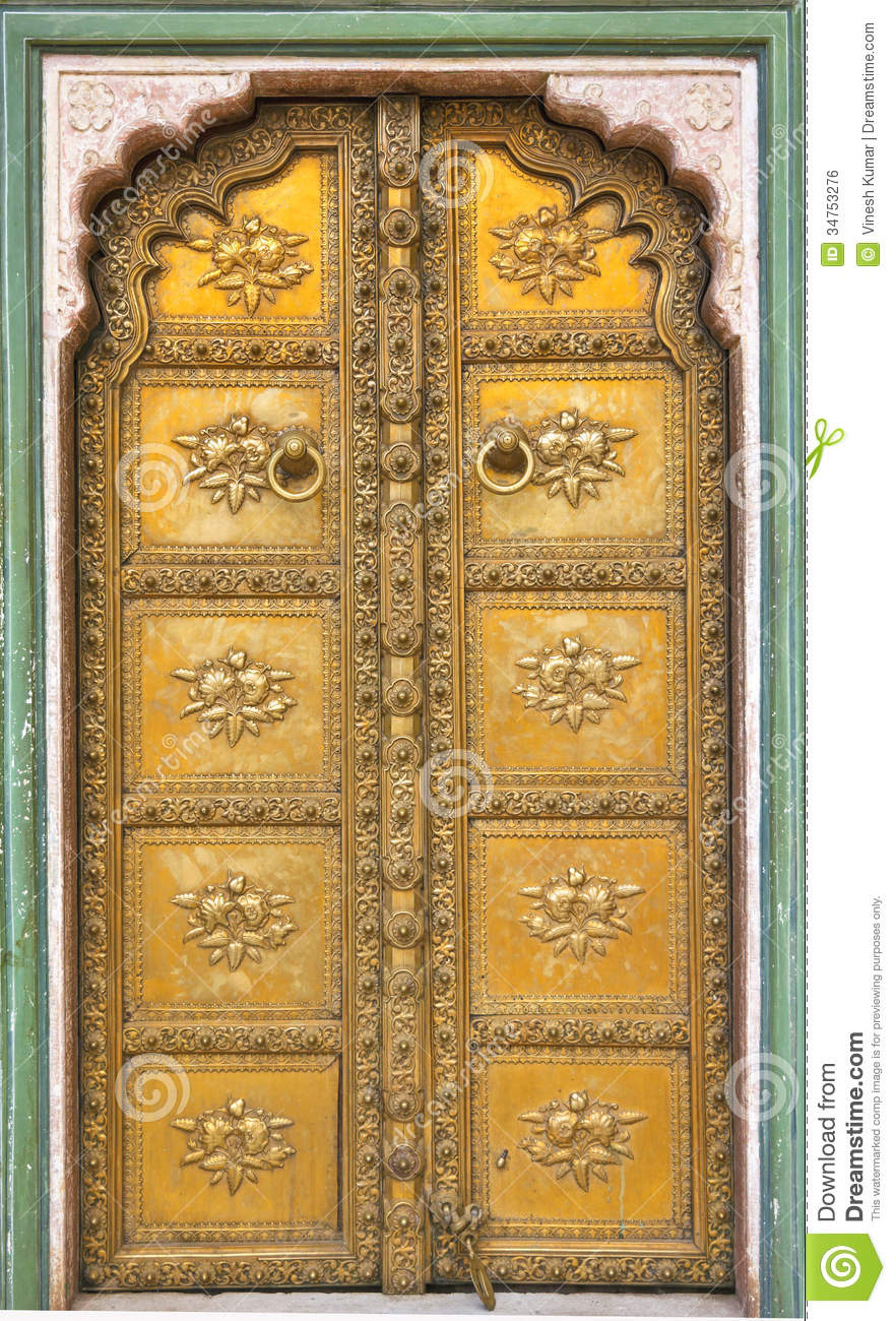 Palace Door Stock Photo Image Of Architecture Yellow