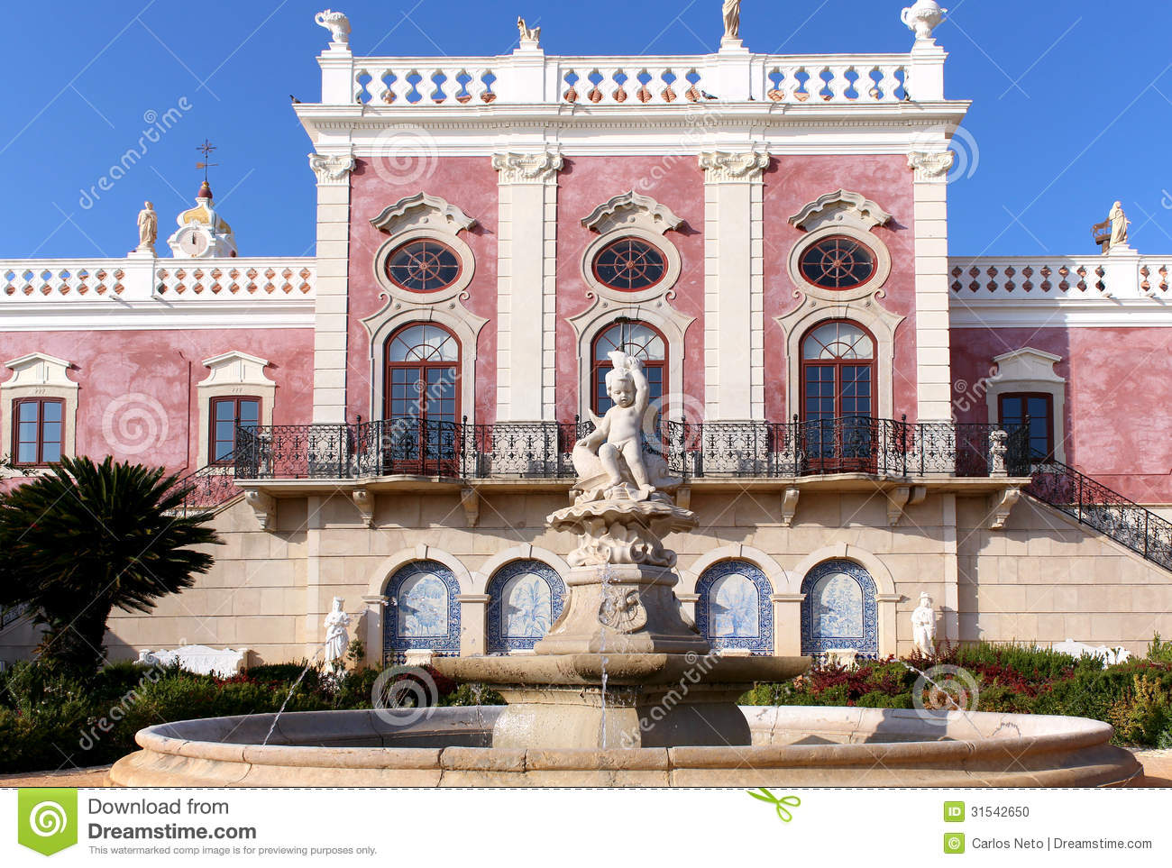 Palace Of Estoi Fountain A Work Of Romantic Architecture