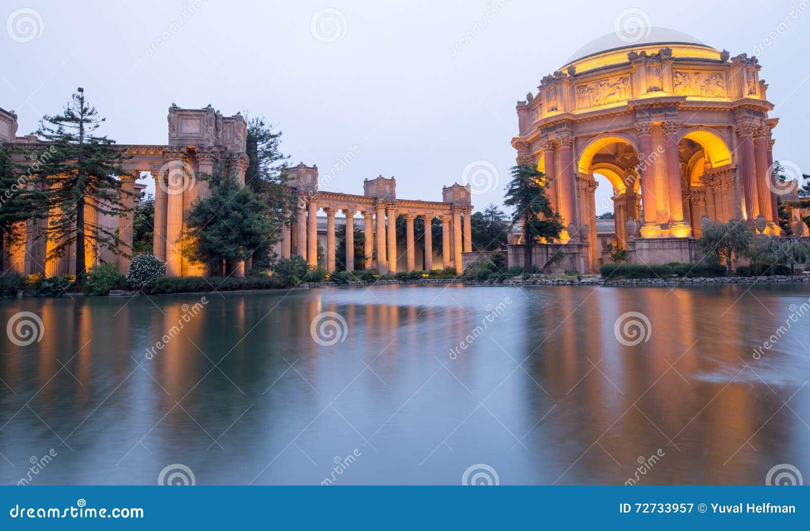 Palace Of Fine Arts San Francisco Dusk Editorial Photography